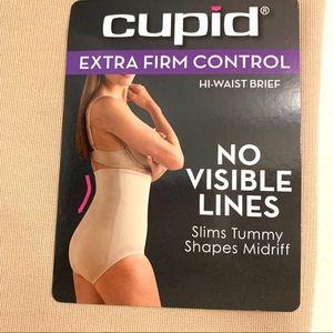 Cupid extra firm control hi- waist brief- xl